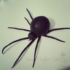 fondant spider Halloween Desserts, Halloween Cakes, Halloween Treats, Fondant Figures, Fondant Cakes, Cupcake Cakes, Modeling Chocolate, Chocolate Art, Sugar Animal