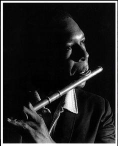 John Coltrane on flute.