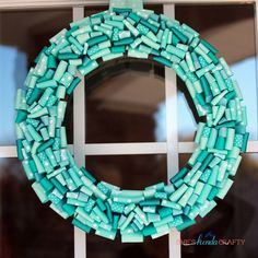 Put a teal wreath on your door for #FoodAllergy Awareness Week #TealTakeover