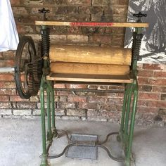 How would like to have to wring out washing with this Workhouse mangle? #washing #mangle #ripon #riponmuseums #workhouse #wash #wring #clothes