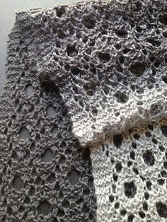 Reversible Circles Of Lace Scarf By Christina - Free Knitted Pattern - (olivemermaids.blogspot)