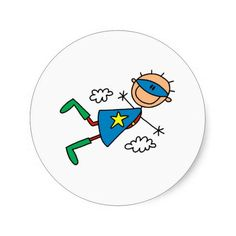 Shop Stick Figure Super Hero Stickers created by stickpeople. Drawing For Kids, Art For Kids, Stick Figure Drawing, Hero Crafts, Drawing Superheroes, Kids Diary, Wood Burning Patterns, Stick Figures, Arts And Crafts Movement