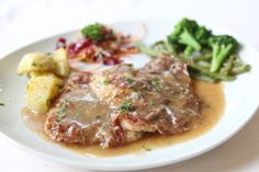 "Did you know that saltimbocca is Italian for ""jumps in the mouth""? This savory and wonderfully rich veal dish does exactly that! Veal Recipes, Chicken Recipes, Cooking Recipes, Italian Dishes, Italian Recipes, Veal Saltimbocca, Veal Scallopini, Easy Dinner Recipes, Easy Meals"
