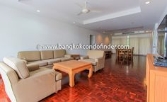 Wonderful Apartment With Treetop Balcony  Get information of this building & available condos or apartments for rent, go to:   http://bangkokcondofinder.com/bangkok-condos-for-rent/ This wonderful apartment with treetop balcony at Dimond House has 220 square meters and holds three bedrooms and three bathrooms.  Available on freehold, the generous open layout combines the living, dining, and closed kitchen.  Gorgeous parquet floor is the norm except in the kitchen and ba