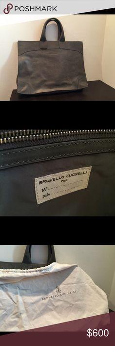 Brunello Cucinelli bag Large, grey suede Brunello Cucinelli bag with original dust bag. Stylish alternative to a briefcase. Brunello Cucinelli Bags Totes
