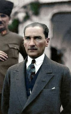 Turkish President Mustafa Kemal Atatürk - at his villa in Izmir during his wedding to Latife Kemal wallpaper hayvan Mustafa Kemal Atatürk The Legend Of Heroes, The Turk, Portraits, Great Leaders, Ottoman Empire, Historical Pictures, Presidents, Handsome, Suit Jacket
