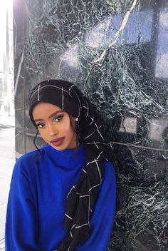 Modern Hijab Fashion, Abaya Fashion, Muslim Fashion, Modest Fashion, Muslim Girls, Muslim Women, Mode Turban, Hair Wrap Scarf, Head Scarf Styles