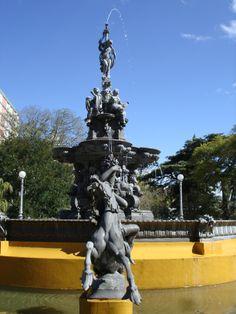 Vista do Chafariz da Praça Coronel Pedro Osório, Pelotas - RS