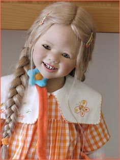 https://flic.kr/p/2m1ax8 | Lillemore in orange | Lillemore (Club doll Annette Himstedt 2007)