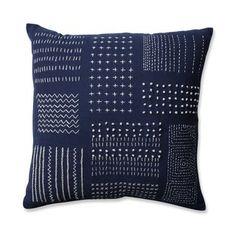 Pillow Perfect Tribal Sampler Navy-White Throw Pillow Throw Pillow), Blue, Size 16 x 16 (Cotton, Geometric) Buy Pillows, Blue Throw Pillows, Sofa Pillows, Decorative Throw Pillows, Accent Pillows, White Pillows, Tribal Bedding, White Throws, Cricut