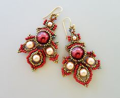 PDF Tutorial for  Porphyr Beadwoven Earrings by PeyoteBeadArt, $6.50