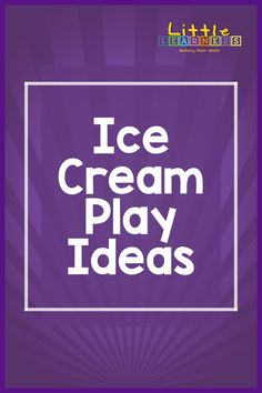 Check out these fun ice cream themed learning ideas for your little ones! Little Learners, Play Ideas, Little Ones, Ice Cream, Crafty, Learning, Live, Check, Fun