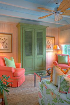 Mary-Bryan Peyer Designs, Inc. Tropical Bedrooms, Tropical Home Decor, Tropical Houses, Coastal Decor, Coastal Style, Tropical Colors, Coral Home Decor, Tropical Interior, Tropical Style