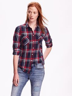 Womens Classic Plaid Flannel Shirt - this is the one I have I think