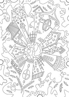 Magical City Coloring Book House Colouring IdeasCute PagesFree