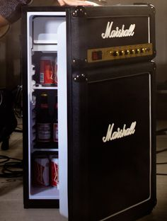 Marshall Amp Fridge... not available in the U.S. yet, but I'm putting my name on the wait list!