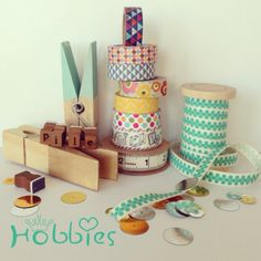 7 vignettes, day 4..Pile... A pile of washi tape and craft things..