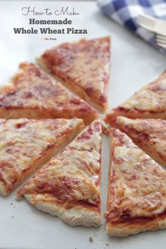How to make the BEST homemade whole wheat pizza