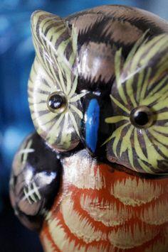 Vintage Ceramic Owl  Home Decor  Bright by ThisCharmingManCave, $21.00