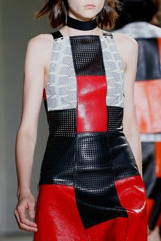 Proenza Perforated Leather and Python Look 18