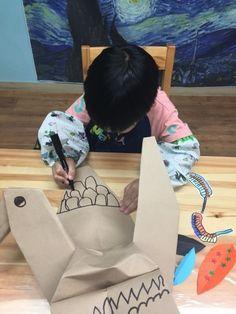 단계 : Pre-work[6-7세]주제 : [Big paper-origami/craft]감상 : 학 동양화 작품 외
