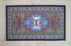 Hand Woven Cotton Dhurrie Rugs - 3x5, Boho Rug, Tribal Rug, Navajo Rug, Moroccan Rug, Flatweave Rug, Area Rug