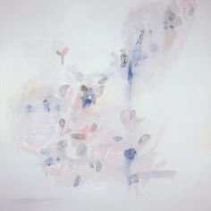 Large Abstract Painting Print White Abstract by LikeWilliamStudio