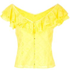 Alice Mccall Need You Now blouse ($339) ❤ liked on Polyvore featuring tops, blouses, yellow top, yellow blouse, alice mccall and alice mccall top