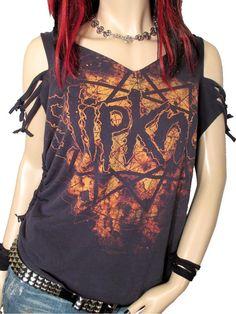 Slipknot Shredded / Destroyed / Upcycled Band Tshirt