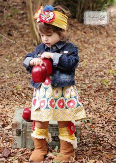 Toddler girls dress boutique Girls dress fall!! So stinkin cute!