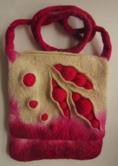 Felt pea pod bag by Teri Berry
