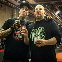 Two stoopid faces #gotrespectorgotnothing #canonlygetbetter #bestoftimes #motorbikeexpo2017 @hard9choppers @kirktaylor.cds