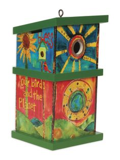 """love Birds"" Birdhouse By Painted Peace From Quirks Of Art"