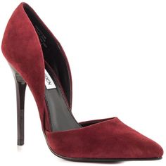 LISTING Steve Madden Wine Suede Pumps #23 Slip into sophistication with the pump by Steve madden. Suede upper, easy slip on construction, feminine cut outs at vamp. Smooth man-made lining. Lightly padded insole. Wrapped heel. Man-made outsole. Heel height 4 inches, comes in box 1-20-16 Steve Madden Shoes Heels
