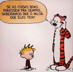 Calvin e Hobbes Calvin E Hobbes, Images And Words, Just Smile, More Than Words, Good Advice, Enough Is Enough, Word Art, Comic Strips, Sentences