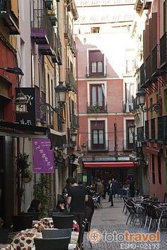 Fotos en venta de: Calle Barcelona. Zona de Huertas. Madrid capital. España Bodega Bar, Madrid, Barcelona, Street View, Vegetable Garden, Wine Cellars, Street, Barcelona Spain