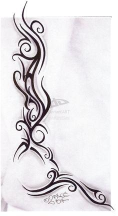Tattooflash Tribal Design Nice by on - Tattoo & Beauty's - Tattoo Designs For Women Tribal Tattoo Designs, Tribal Tattoos For Women, Tattoo Designs For Women, Trendy Tattoos, Cute Tattoos, New Tattoos, Body Art Tattoos, Tattoos For Guys, Maori Tattoos