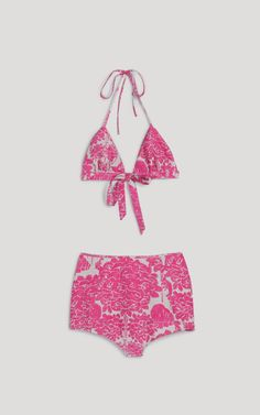 #Pink and just a tad retro; these details would entice me to wear a bikini. Design by Rachel Comey