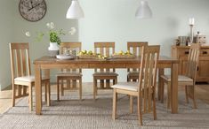 Highbury Oak Extending Dining Table with 8 Chester Chairs (Ivory Seat Pad) for only £669.99 at Furniture Choice. Free standard delivery & finance options available.