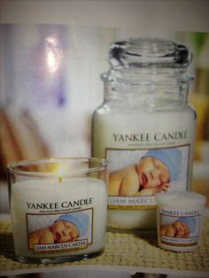 Yankee Candle can now personalize labels!    I think this is so cute, and would be a great gift for grandparents.  Another idea might be to get a candle with your wedding photo on it and burn it on every anniversary!  The only downside is that there is a minimum order of 3 candles.