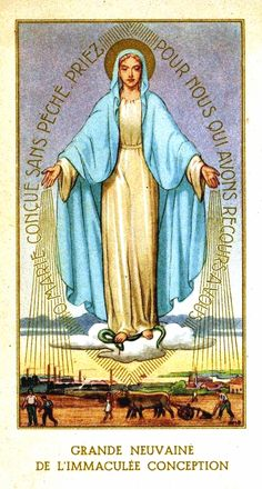 Grande Neuvaine de l'Immaculée Conception - The cover of a French booklet for the novena of the Immaculate Conception.