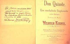 Wilhlem Kienzl. «Don Quixote». Portada de la edición para canto y piano. Biblioteca Musical Municipal (Madrid).