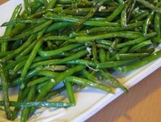 Amazingly Delicious Roasted Green Beans