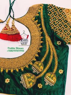 Wedding Saree Blouse Designs, Pattu Saree Blouse Designs, Blouse Designs Silk, Saree Wedding, Hand Work Blouse Design, Kids Blouse Designs, Aari Embroidery, Embroidery Patterns, Neck Design