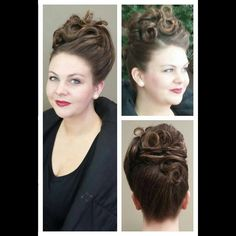 #hairbyveronicaroman #style #updo #vintage #victorian