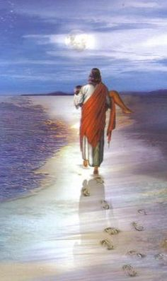 this is jesus taking me to the beach😁for a new beautiful life Paintings Of Christ, Jesus Painting, Jesus Son Of God, Jesus Drawings, Jesus Artwork, Pictures Of Jesus Christ, Christian Pictures, Biblical Art, Angel Art