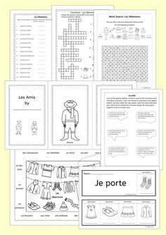 Nice Llanguage Llamas   French Clothes   Les Vêtements. 76 Pages Of Fun  Resources To Teach 16 French Words For Clothes, Great For Elementary  Students.