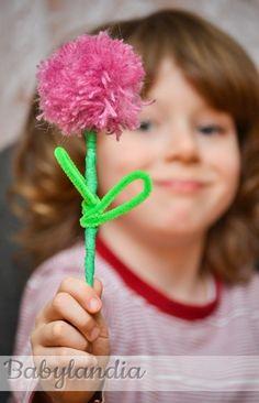 Kwiatek z wełny :)