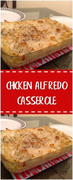 Chicken Alfredo Casserole #chicken #whole30 #foodlover #homecooking #cooking #cookingtips