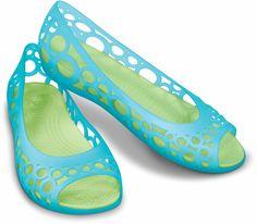Crocs Adrina Flat  Aqua / Celery